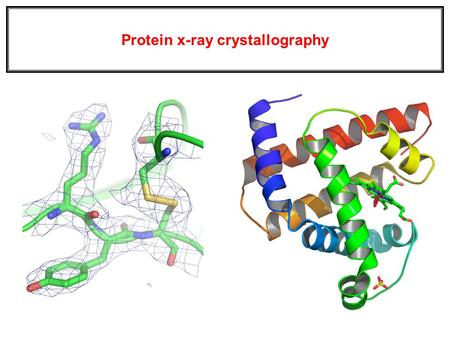 Protein x-ray crystallography. (1.) Models, not structures. Corroborating results suggest that the models are close to biological reality. (2.) No matter.
