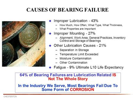 CAUSES OF BEARING FAILURE