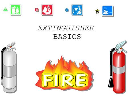 EXTINGUISHER BASICS D INTRODUCE YOURSELF. REMIND STUDENTS ABOUT: