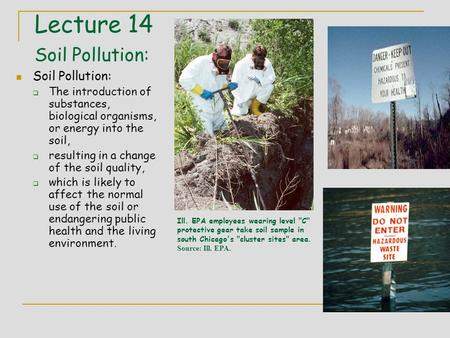 Soil pollution 12 19 20151envr 303 first effect of for Soil is an example of