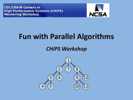 Fun with Parallel Algorithms CHiPS Workshop. Parallelizing our lives Many of the tasks we perform in our everyday lives include significant parallelism.