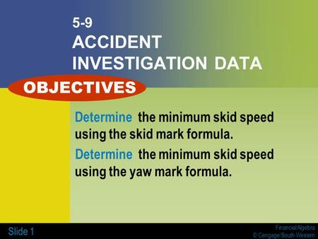 5-9 ACCIDENT INVESTIGATION DATA