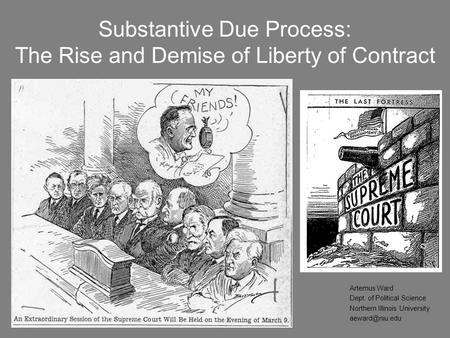 Substantive Due Process: The Rise <strong>and</strong> Demise of Liberty of <strong>Contract</strong>