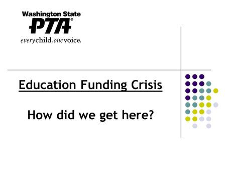 Education Funding Crisis How did we get here?. How do we compare? State – 42 nd in per pupil funding State – 45 th in class size School districts in state.