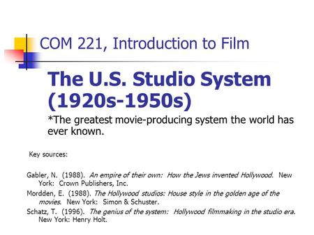 an introduction to the history of hollywood films History of the motion picture: together these phenomena permit the succession of still frames on a motion-picture film strip to represent continuous movement when projected at the proper speed introduction of colour the hollywood studio system international cinema.