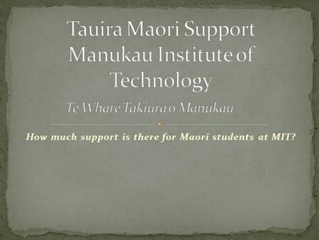 How much support is there for Maori students at MIT?