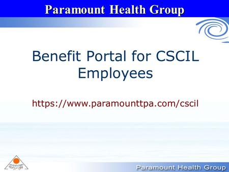 Benefit Portal for CSCIL Employees
