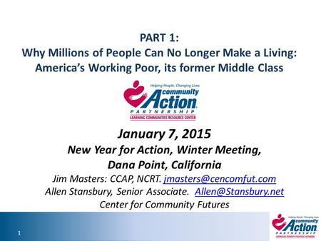 New Year for Action, Winter Meeting,