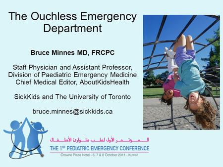 The Ouchless Emergency Department