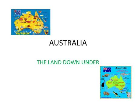AUSTRALIA THE LAND DOWN UNDER. THE AUSTRALIAN FLAG.