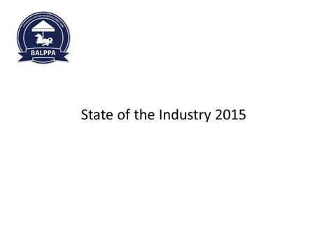 Welcome to 360 Play FEC Regional Meeting 06.02.2014 State of the Industry 2015.