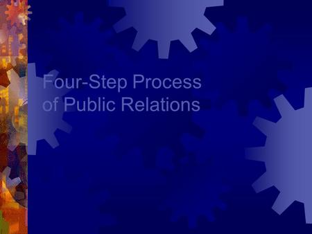 Four-Step Process of Public Relations. RACE / ROPE 4 Steps Are: 1.Research 2.Action Plan / Objectives / Program Planning 3.Communication Tactics / Implementing.