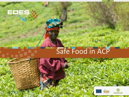 Safe Food in ACP. Shortly… Lead by COLEACP, CONSORTIUM with : Agence Nationale de Sécurité Sanitaire (ANSES, France); Centre de coopération International.
