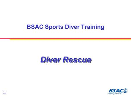 ST2.1 08/02 Diver Rescue BSAC Sports Diver Training.