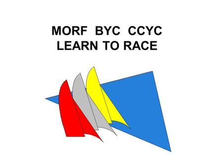 MORF BYC CCYC LEARN TO RACE. Objectives This course is designed for those who are interested in participating in local Coastal Bend race events such as.