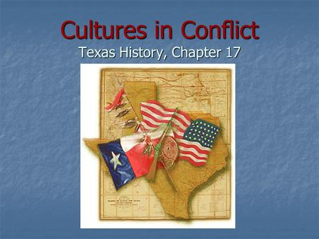 Cultures in Conflict Texas History, Chapter 17. Native Americans Control the West Settlements in isolated West Texas were left vulnerable to attacks by.