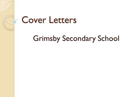 Grimsby Secondary School