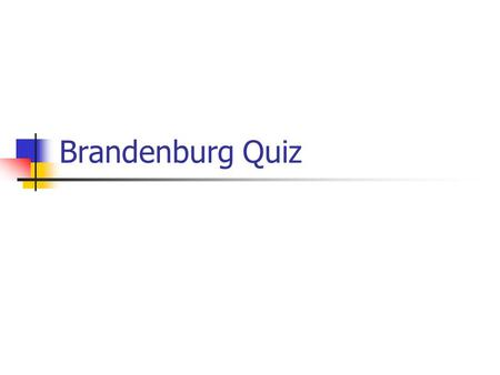 Brandenburg Quiz. Clarence Brandenburg was a member of what white supremacist organization? A. The Neo-Nazis of Northern Ohio B. The National Alliance.