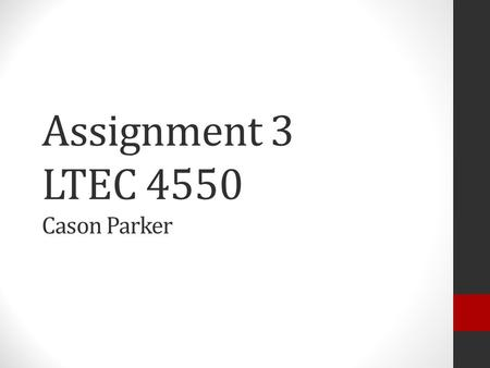 Assignment 3 LTEC 4550 Cason Parker. Network Hub A Network Hub is a device that connects other devices together using Ethernet cables. Hubs are unintelligent.