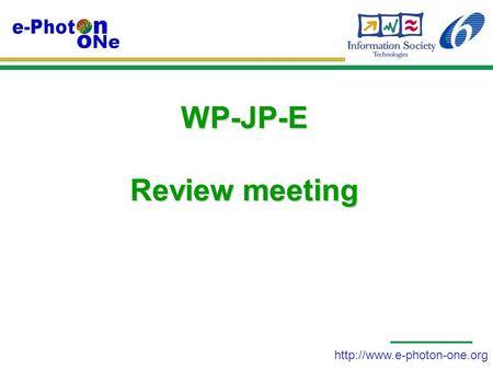 WP-JP-E Review meeting.