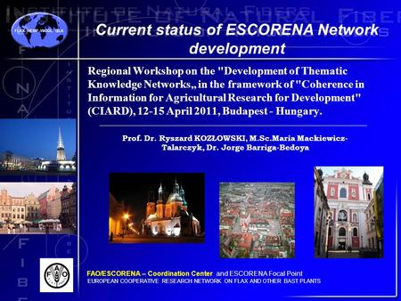 "Regional Workshop on the Development of Thematic Knowledge Networks"" in the framework of Coherence in Information for Agricultural Research for Development"
