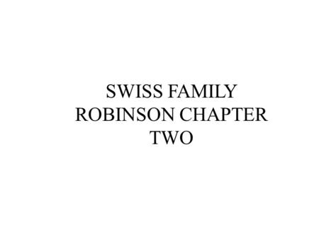 SWISS FAMILY ROBINSON CHAPTER TWO. ex·cur·sion ( k-skûr z h n ) n. 1.A usually short journey made for pleasure; an outing. 2.A roundtrip on a passenger.
