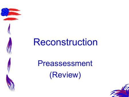 Preassessment (Review)