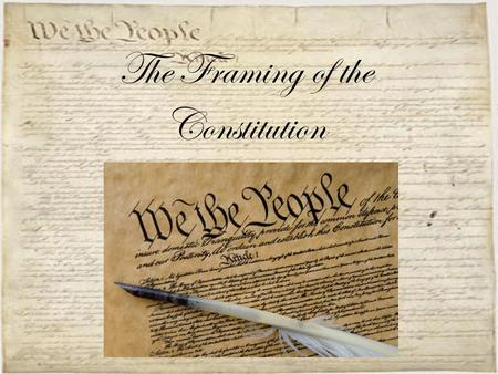 The Framing of the Constitution. Problems with the A.O.C. 1.Funding veterans' pensions 2.Promoting trade 3.Handling the Indian threat 4.Dealing with worthless.