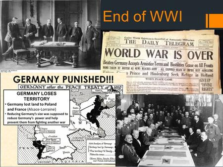 End of WWI. Wilson's Agenda  Plan for World Peace  Jan 18, 1918  Fourteen Points Speech  3 groups  First 5 = Issues that caused the War  Next 8.