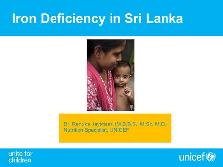 Iron Deficiency in Sri Lanka