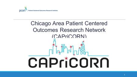 Chicago Area Patient Centered Outcomes Research Network (CAPriCORN)