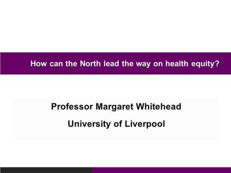 How can the North lead the way on health equity?