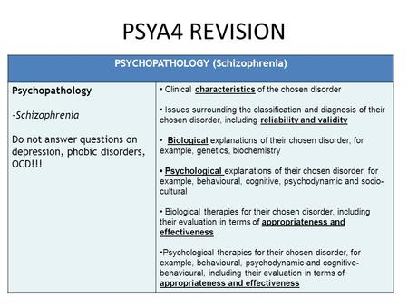 psychopathology and therapies depression schizophrenia and eating disorders Perhaps the greatest controversy in the field of eating-disorder treatment is the debate over how to treat binge-eating disorder the condition--currently a provisional category in the diagnostic and statistical manual--is marked by recurrent binge-eating without purging and is typically seen in people who are obese.