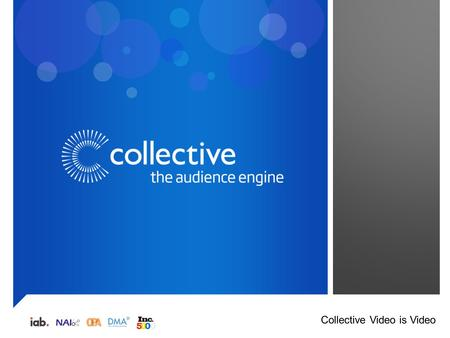 Collective Video is Video. Disruptive tech adoption -20% 100% 80% 60% 40% 20% 0 103% 22% 8% -22% MOBILECOMPUTERTELEVISIONNON-SCREENS Since 2008 US consumers.