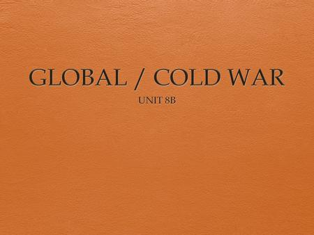 conclusion on the cold war The end of the cold war was a greater historical transformation than 9/11, but controversy persists about its causes an article by steven erlanger in mo.