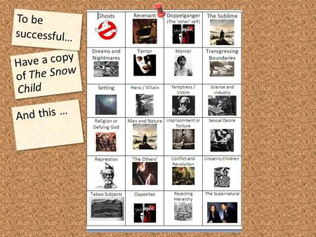 Have a copy of The Snow Child To be successful… And this …