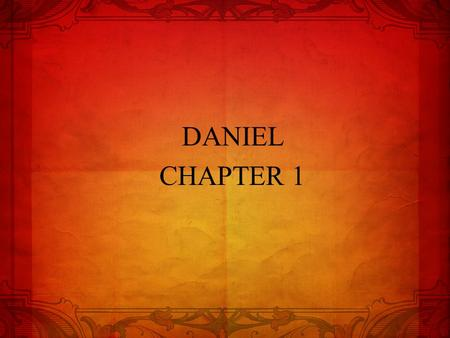DANIEL CHAPTER 1. DANIEL 1 OUTLINE Sovereignty in Babylon 1:1-2 Brainwashing in Babylon 1:3-7 Commitment in Babylon 1:8-16 Success in Babylon 1:17-21.