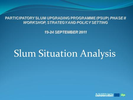 Slum Situation Analysis