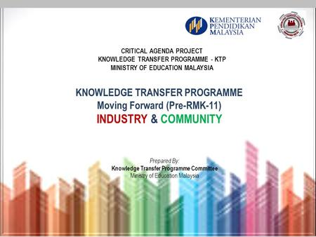 INDUSTRY & COMMUNITY KNOWLEDGE TRANSFER PROGRAMME