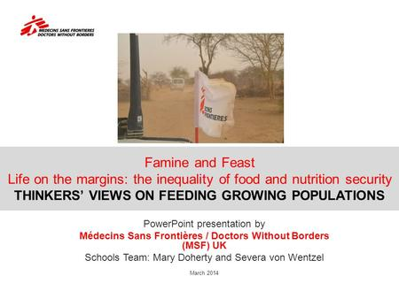 Famine and Feast Life on the margins: the inequality of food and nutrition security THINKERS' VIEWS ON FEEDING GROWING POPULATIONS PowerPoint presentation.