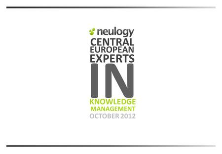 CENTRAL OCTOBER 2012 EXPERTS MANAGEMENT KNOWLEDGE EUROPEAN IN.