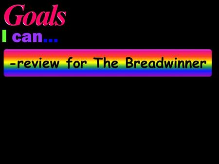 I can… -review for The Breadwinner Regular JeopardyFinal Jeopardy.