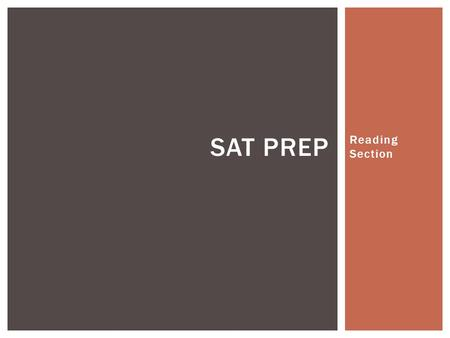 Reading Section SAT PREP.  Rare to ever encounter a level one or level two question in the passage-based reading section  The answer to a reading question.