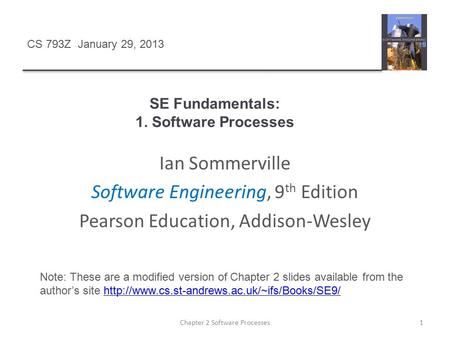 SE Fundamentals: 1. Software Processes