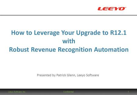 How to Leverage Your Upgrade to R12.1 with