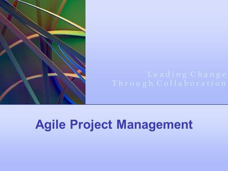 <strong>Agile</strong> Project Management