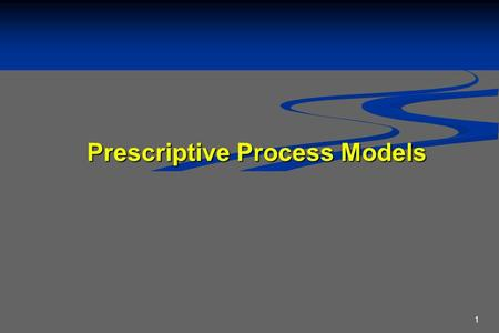 1 Prescriptive Process Models. 2 Prescriptive Models Prescriptive process models advocate an orderly approach to software engineering Prescriptive process.