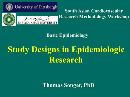 Study Designs in Epidemiologic Research