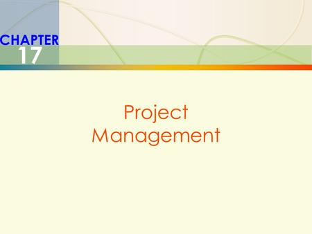 CHAPTER 17 Project Management.