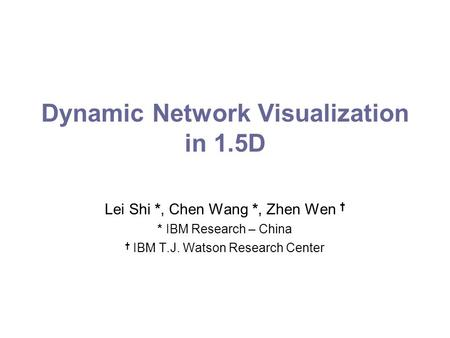 Dynamic Network Visualization in 1.5D